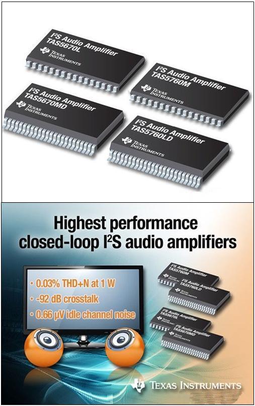 德州仪器闭环I2S音频放大器支持业界最佳 - STAR - 电子元器件